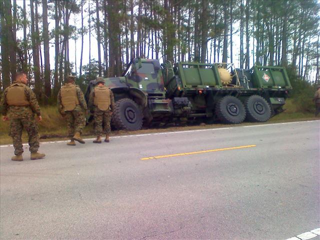 Fuel Spill, Highway 70, 12/10/09